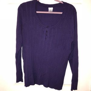 Cute purple sweater with button front